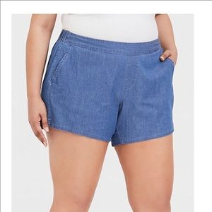 Torrid chambray shorts